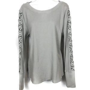 Sundance Lace Sleeves Blouse. Size L
